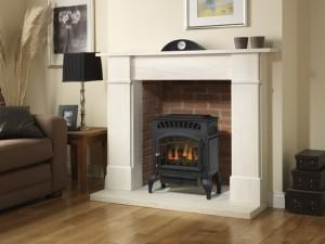 Burley Esteem Flueless Gas Fires in the biggest showroom in Wales