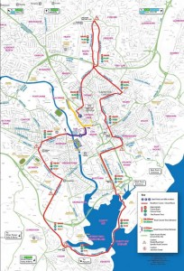 Cardiff 10k half marathon, road closures map